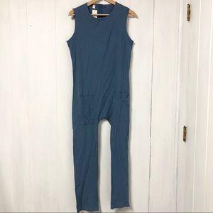 Dusty Blue Short Sleeve Jumpsuit Size S NWT